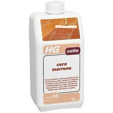 HG - Cera Marrone per pavimento in cotto 1 lt ridona colore rafforza vivacizza
