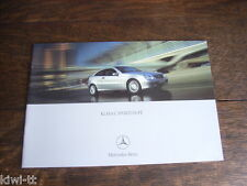 Mercedes Benz C-Klasse Klasa Sportcoupe (CL203), Prospekt / Brochure, PL, 2.2002