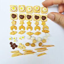 60x Dollhouse Miniature Food Mixed Breakfast Set Bread  Doll Mini Tiny Loose Lot