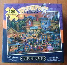 Jigsaw Puzzle - Gardner Village Witchfest 100 Pc By Dowdle Folk Art