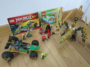 LOT LEGO NINJAGO : 70503 LE DRAGON D'OR +  70755 LE BUGGY DE LA JUNGLE (COMPLET)