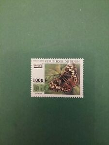 Bénin surchargé overprint Papillon 1000f sur 250f neuf MNH rare