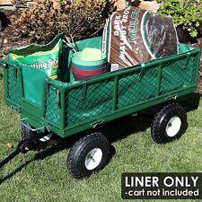 Garden Cart Wheelbarrow Wagon Poly Pull Dump Utility Liner Green Polyester 600D