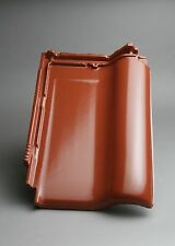 Dachziegel M-PLUS kastanienbraun (Edelengobe) / Flachdachziegel Tondachziegel