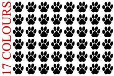 48 x Paw Print Dog Cat Decal Vinyl Stickers 2cm x 2cm Car Glass Craft Art