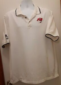 Tampa Bay Buccaneers ~ PUBLIX and UNITED WAY ~ XL Polo Style White Dress Shirt