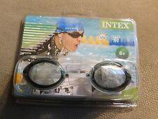 b72034fd1a Intex Swim Sport Relay Goggles~Black Gray Clear~Ages 8+~