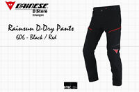 NEW - DAINESE P. RAINSUN D-DRY  MEN MOTORCYCLE PANTS - BLACK RED - EU 50 US 40
