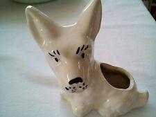 "Scottie Dog Planter West Highland Terrier Vintage 5""H"