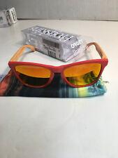 Oakley Limited Edition Aquatique Frogskin Sunglasses Hotspot/Fire Iridium 24-359