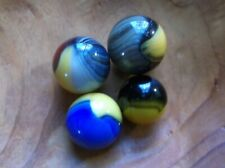 4 RARE COLLECTABLE MASTER COMPANY SUNBURST/PATCH MARBLES