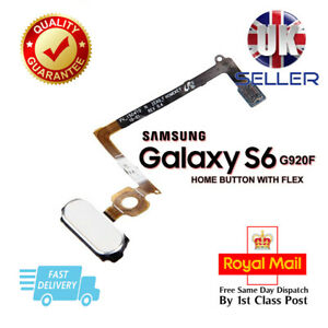 Replacement Main Home Button Flex Cable For Samsung Galaxy S6 G920 White