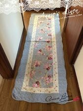 Blue Country Rose Quilted Laura Ashley Fabric Bath/Bed/Floor Runner/mat/rug MM01
