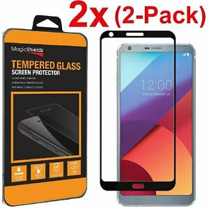 2 Pack Full Screen Cover Tempered Glass Screen Protector For LG G6 G6+