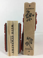 Stampin Up KINDRED SPIRITS Double Sided BERRY VINE With Sympathy BRANCH Flowers