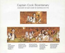 Australian Mint 1970 Captain Cook Landing Stamps Mini-Sheet 1770 Discovery issue