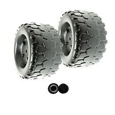 Power Wheels T6138 or T6138-9993 Tough Talking Jeep Replacement Wheel- 2 Pack