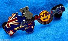 New listing Surfers Paradise Australia Day Flag Koala Map Guitar 2011 Hard Rock Cafe Pin Le
