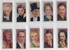 FILM STARS, BY CARRERAS.  A SERIES  ISSUED 1936 .  VERY GOOD COND. FULL SET 50