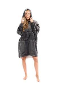 Fleece Hoodie Blanket Oversized Ultra Plush  Sweatshirt Soft Warm Reversible uk