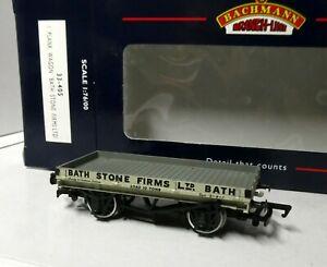 Bachmann 33-405 1 Plank Wagon BATH STONE FIRMS LTD Grey BNIB (j)