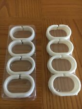 Shower Curtain Rings 2 Sets of 12 White Plastic Rings