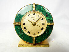 Schöne SWIZA Reiseuhr Wecker alarm table clock Swiss made 8 days working  09937