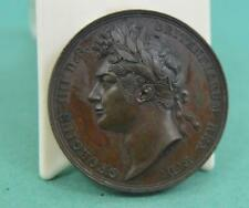 More details for antique 1821 coronation of george iv 35mm bronze medal - by pistrucci
