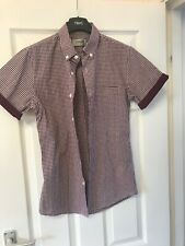 topman shirt Red Check, Size XS