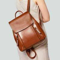 Women's Genuine Leather Backpack Handbag Shoulder Bag Crossbody Hobo 586#