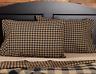 BLACK CHECK Standard Pillow Case Set/2 Black Khaki Primitive Rustic Country VHC