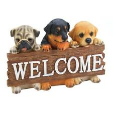 New Dog Welcome Plaque Puppy Wood Sign Wall Home Decor Breed Pet Animal Hanging