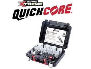 13pc Blu-Mol QUICKCORE Xtreme Bi-metal Hole Saw Set 19/22/29/35/38/44/51/54/64mm