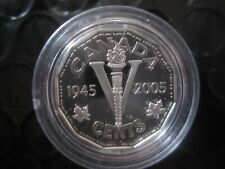 5-cents Victory Nickel - 60th Anniversa of D-Day - 92.5% Silver proof 1945-2005