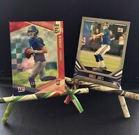 Daniel Joes Card Lot! 2019 Donruss Elite Daniel Jones /299 No. 10 & Playbook 104