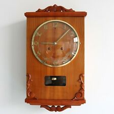 WESTERSTRAND Vintage Wall Top Clock SWEDISH Design 1950s Mid Century 2 Bar Chime
