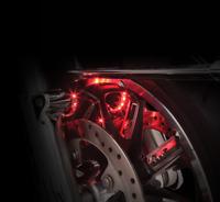 Ciro 41009 Fork Mounted Illuminator Lights for 00-17 Harley FLH FLTR Touring