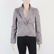 NEW Monsoon Womens Size 8 Brown Cotton Crop Short Jacket