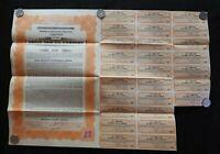 1920 UNCLE SAM OIL COMPANY 100 DOLLAR GOLD BOND WITH COUPONS KANSAS CITY KANSAS