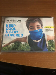 NEW! MISSION INSTANT Cooling Neck Gaiter Face Cover Mask Charcoal Grey Youth 8+