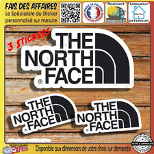 3 Stickers autocollant the north face decal sponsor