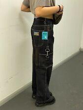 BLEU BOLT BAGGY JEANS YOUTHS DYED BLACK BROWN FADED Y5070 Y2K SKATE