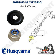 Genuine Husqvarna Nut & Washer 503856301 & 537285601 for Trimmer Blades