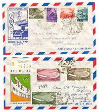 SURINAME 1953 FDC E1 /E2 --CV € 160 --VF