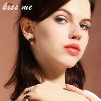 KISS ME Crystal Swallow Bird Minimalism Elegant Unique Drop Earrings ed01509c