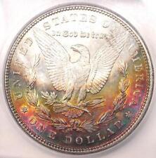 1887 Toned Morgan Silver Dollar $1 - Certified ICG MS63 - Nice Rainbow Toning!