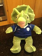 BUILD A BEAR plush TRICERATOPS Green DINOSAUR Stuffed Animal usa soccer shirt