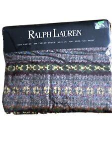 VTG Twin Fitted Ralph Lauren Leland Bed Sheet Fair Isle