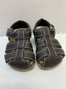 The Childrens Place Brown Boys 3-6 Month Closed Toed Sandles Summer