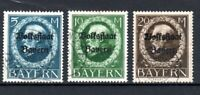 Germany - Bavaria 1919-20 People's State issue opt values 5m, 10m and 20m FU CDS